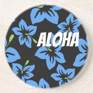 Dessous De Verre En Grès Fleurs fraîches d'Hawaï de personnaliser