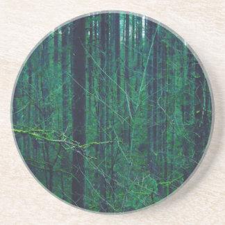 Dessous De Verre En Grès Forêt verte