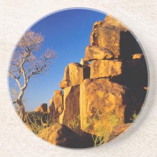 Dessous De Verre En Grès Formation de roche et arbre, le terrain de jeu du