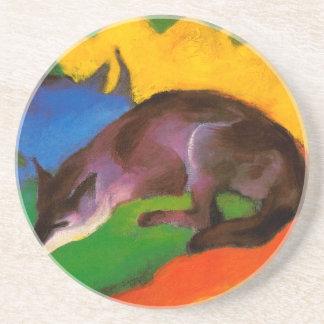Dessous De Verre En Grès Fox noir bleu de Franz Marc