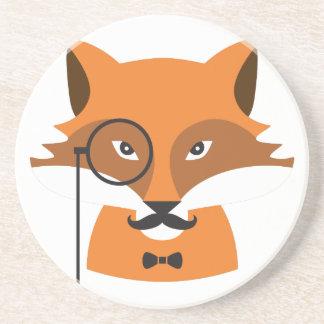 Dessous De Verre En Grès Fox orange