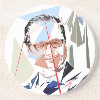Dessous De Verre En Grès François Hollande