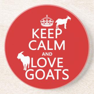 Dessous De Verre En Grès Gardez le calme et aimez les chèvres