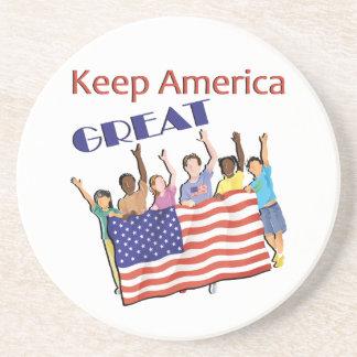 Dessous De Verre En Grès Gardez le grand défilé adulte de l'Amérique