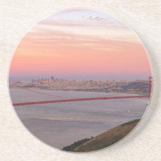 Dessous De Verre En Grès Golden gate bridge San Francisco au lever de