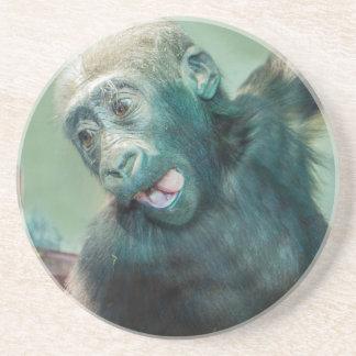 Dessous De Verre En Grès Gorille de bébé