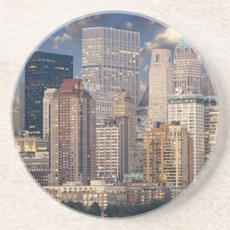 Dessous De Verre En Grès Gratte-ciel de Manhattan le Hudson d'horizon de
