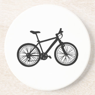 Dessous De Verre En Grès Griffonnage tiré par la main simple de bicyclette