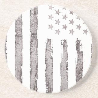 Dessous De Verre En Grès Gris vintage de drapeau américain