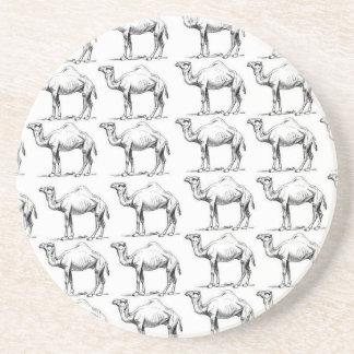 Dessous De Verre En Grès groupe de troupeau de chameaux