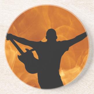 Dessous De Verre En Grès Guitariste de concert