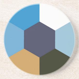 Dessous De Verre En Grès Hexagonal