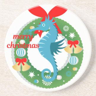 Dessous De Verre En Grès hippocampe de Joyeux Noël