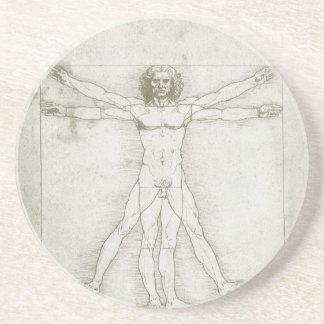 Dessous De Verre En Grès Homme de Vitruvian par Leonardo da Vinci