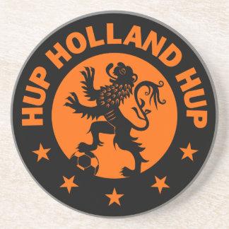 Dessous De Verre En Grès Hup la Hollande - couleur Editable d'arrière -