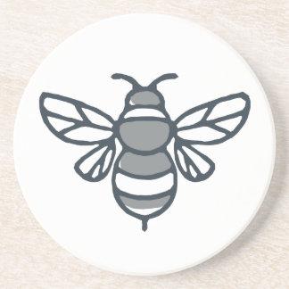 Dessous De Verre En Grès Icône d'abeille de bourdon