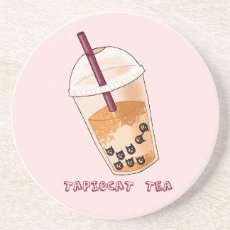 Dessous De Verre En Grès Illustration de calembour de thé de Tapiocat