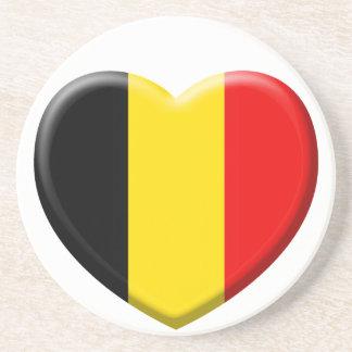Dessous De Verre En Grès j'aime la Belgique