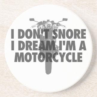 Dessous De Verre En Grès Je ne ronfle pas rêve d'I que je suis une moto