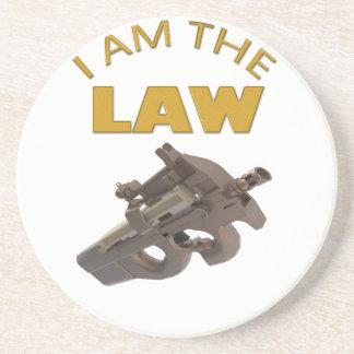 Dessous De Verre En Grès Je suis la loi avec une mitrailleuse m4a1