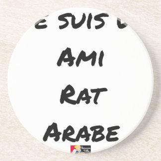 Dessous De Verre En Grès JE SUIS UN AMI RAT ARABE - Jeux de mots
