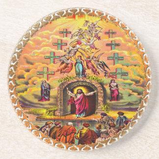 Dessous De Verre En Grès Jésus à la porte du ciel