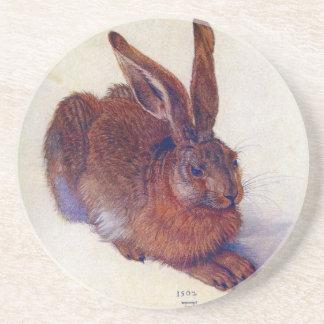 Dessous De Verre En Grès Jeunes lièvres par Albrecht Durer, beaux-arts de