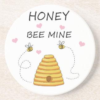 Dessous De Verre En Grès Jour de Valentines de mine d'abeille