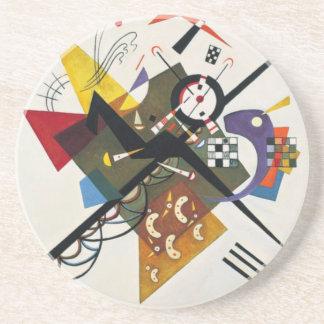 Dessous De Verre En Grès Kandinsky sur la peinture abstraite du blanc deux