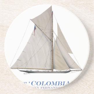 Dessous De Verre En Grès La Colombie 1899