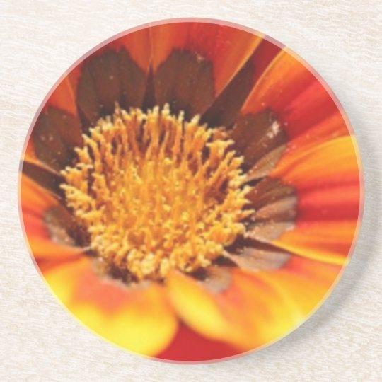 Dessous De Verre En Grès La fleur de Zinnia boit le caboteur