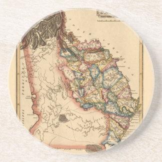 Dessous De Verre En Grès La Géorgie 1817