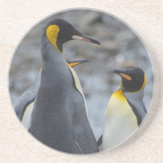 Dessous De Verre En Grès La Géorgie du sud. Pingouin de roi très grand