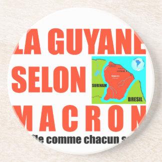 Dessous De Verre En Grès La Guyane selon Macron est une île