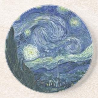 Dessous De Verre En Grès La Nuit Etoilée de Van Gogh (The Starry Night)