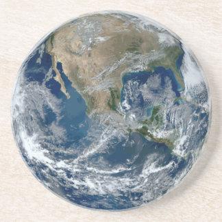 Dessous De Verre En Grès La terre de planète de l'espace
