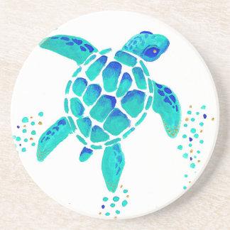 Dessous De Verre En Grès La tortue de Neptune