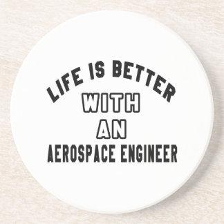 Dessous De Verre En Grès La vie est meilleure avec un ingénieur aérospatial
