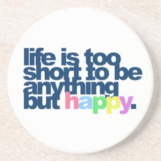 Dessous De Verre En Grès La vie est trop courte pour être quelque chose