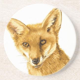 Dessous De Verre En Grès La vie sauvage rouge britannique de Fox