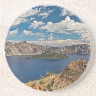 Dessous De Verre En Grès Lac crater et île de magicien, lac crater