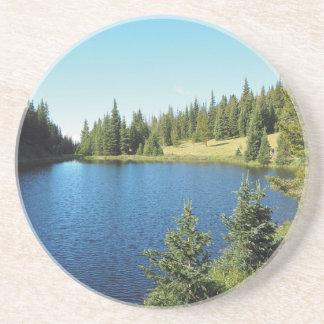 Dessous De Verre En Grès lac Irène en parc national de montagne rocheuse