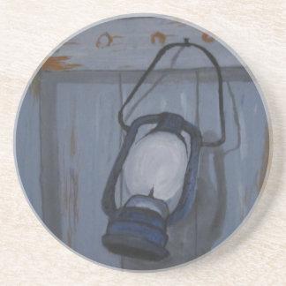 Dessous De Verre En Grès Lanterne bleue