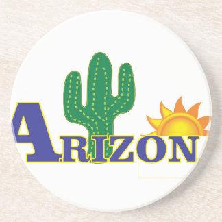 Dessous De Verre En Grès l'Arizona bleu