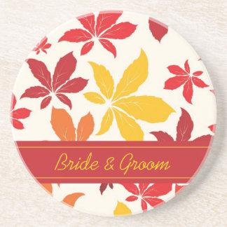 Dessous De Verre En Grès L'automne lumineux laisse le mariage