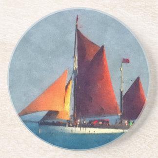 Dessous De Verre En Grès Le bateau de navigation