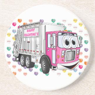Dessous De Verre En Grès Le camion à ordures 3D de Valentine