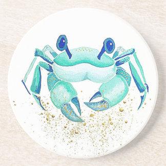 Dessous De Verre En Grès Le crabe de Neptune