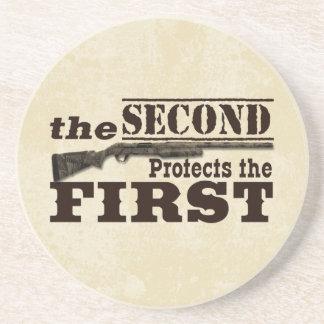 Dessous De Verre En Grès Le deuxième amendement protège le premier