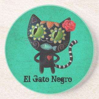 Dessous De Verre En Grès Le jour du chat noir mort